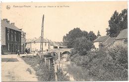 Ham-sur-Heure NA10: Un Pont Sur L'Heure Et La Rue Froide 1920 - Ham-sur-Heure-Nalinnes
