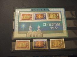ANTIGUA - 1972 NATALE  CHIESA 3 VALORI + BF - NUOVI(++) - Antigua E Barbuda (1981-...)