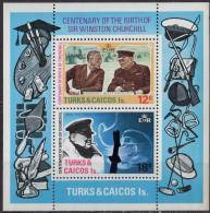 TURKS ET CAIQUES - Centenaire De La Naissance De Winston Churchill - Turks And Caicos