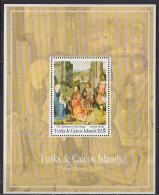 TURKS ET CAIQUES - Noël 1991 Feuillet - Turks And Caicos