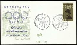 Germany Hamburg 1968 / Olympic Games Mexico City / Olympic On Stamps / Philatelic Exhibition / Freiherr Von Langen - Zomer 1968: Mexico-City