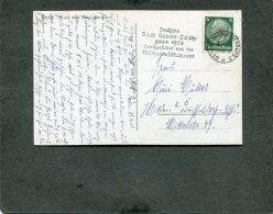 Deutsches Reich Postkarte 1935 Bachhendelschutz Usw - Deutschland