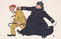 AK Betrunkener Und Polizist - Humor - 1909 (34266) - Humor