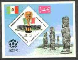 29292 Yemen - Royalist 1970 World Cup Football 24b Value (diamond Shaped) Imperf M/sheet Unmounted Mint - 1970 – Mexico
