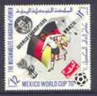 31429 Yemen - Royalist 1970 World Cup Football 12b Value (Germany Mi 982) (perf Diamond Shaped) Unmounted Mint Opt'd 'Br - Fußball-Weltmeisterschaft