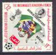 31431 Yemen - Royalist 1970 World Cup Football 12b Value (Brazil Mi 986) (perf Diamond Shaped) Unmounted Mint Opt'd 'Bra - 1970 – Mexico