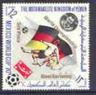 31435 Yemen - Royalist 1970 World Cup Football 12b Value (Germany Mi 982) (perf Diamond Shaped) Opt'd 'World Championshi - World Cup