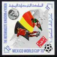 44338 Yemen - Royalist 1970 World Cup Football 12b Value (Belgium Mi 985) Imperf Diamond Shaped Unmounted Mint* - 1970 – Mexico