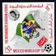 44339 Yemen - Royalist 1970 World Cup Football 12b Value (Brazil Mi 986) Imperf Diamond Shaped Unmounted Mint* - World Cup