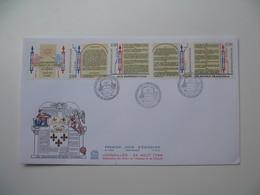 FDC  Versailles 26 Août 1789 Déclarations Des Droits De L'Homme Et Du Citoyen  Bicentenaire 1989  (format 16x27) - 1980-1989