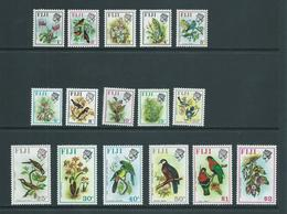 Fiji 1970 Bird & Flower Decimal Definitives Simplified Set Of 16 MNH - Fiji (1970-...)