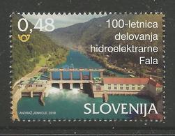 SI 2018-08 HIDROPOWER PLANT FALA, SLOVENIA, 1 X 1v, MNH - Elektrizität