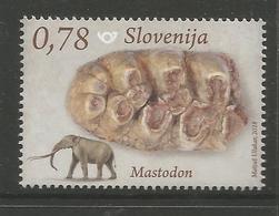 SI 2018-07 FOSILE MAMALS IN SLO, SLOVENIA, 1 X 1v, MNH - Slowenien