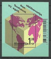 SI 2018-09 WORLD DESIGN DAY, SLOVENIA, S/S, MNH - Slowenien