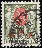 Geriffelt-Grillé 1934: Zu 46z Mi 46y Mit O LA-TOUR-DE-PEILZ ?.IV.37  (Zu CHF 90.00) - Taxe