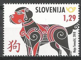 SI 2018-06 CHINA NEW YEAR , SLOVENIA, 1 X 1v, MNH - Slowenien
