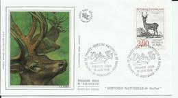 FRANCE - ENVELOPPE PREMIER JOUR LE CERF CAD MONTBARD 18/6/1988 - Gibier
