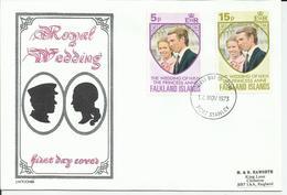 FALKLAND - ENVELOPPE PREMIER JOUR ROYAL REDDING CAD PORT STANLEY DU 14/11/1973 - Falkland Islands