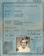 CARTE NATIONALE D'IDENTITE -RF-MARSEILLE   BOUCHES DU RHONE N°ES15340  1957 - Sin Clasificación