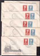 1958 Olanda Holland Nederland Europa CEPT EUROPE 6 FDC Seconda Scelta - Europa-CEPT