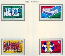 CAMPEONATO DEL MUNDO DE FÚTBOL , ESPAÑA 82 , SELLOS NUEVOS ** , EXCELENTE CALIDAD , GAMBIA - Fußball-Weltmeisterschaft