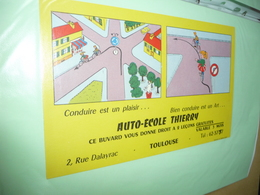 BUVARD Blotting Paper :  Auto Ecole Thierry 2 Rue Dalayrac Toulouse Code De La Route - Automobile
