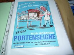 BUVARD Publicitaire  BLOTTING PAPER  Buvard Pour La Santé De Votre Téléviseur Exigez Une Antenne PORTENSEIGNE - Blotters