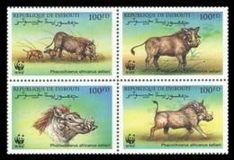 Djibouti 2000 Mih. 678/81 Fauna. WWF. Common Warthog MNH ** - Djibouti (1977-...)
