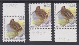 BE2003 - BUZIN - N° 3199 XX CPFL + 3199 XX TRC1 + 3119 XX TRC3 Non Repris Au COB 2018 - 1985-.. Oiseaux (Buzin)