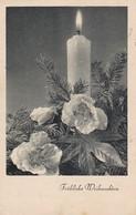 AK Fröhliche Weihnachten - Kerze Tannenzweig - Feldpost Fliegerhorstkommando Langendiebach Küchenverwaltung 1940 (34280) - Weihnachten