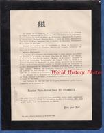 Document De 1889 - LA TOUR Du PIN ( Isère ) Château Du Pin - Monsieur Pierre Gabriel Henri DU COLOMBIER - Documents Historiques