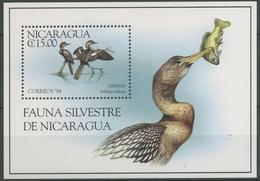 Nicaragua 1994 Amerikanischer Schlangenhalsvogel Block 229 Postfrisch (C12508) - Nicaragua