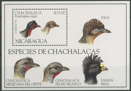 Nicaragua 1994 WWF Naturschutz Mohrenguan Block 232 Postfrisch (C12507) - Nicaragua