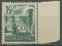 Französische Zone: Rheinland-Pfalz 1947 Porta Nigra Type II, 4 Vw II Postfrisch - Zona Francese
