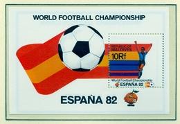 CAMPEONATO DEL MUNDO DE FÚTBOL , ESPAÑA 82 , HOJA BLOQUE ** , EXCELENTE CALIDAD ,  MALDIVAS - Fußball-Weltmeisterschaft