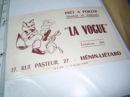 """BUVARD Blotting Paper """" LA VOGUE """" Prêt à Porter. Lapin Essayant Chaussures Au Renard - Blotters"""