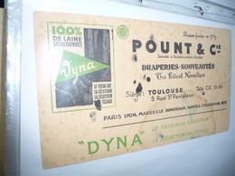 BUVARD- Tissu  DYNA POUNT Cie Draperies 5 Rue St Pantaleon Toulouse - Stationeries (flat Articles)