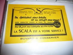 BUVARD Publicitaire  BLOTTING PAPER  LA SCALA Cinéma - Blotters