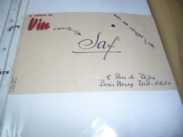 BUVARD Publicitaire  BLOTTING PAPER   Vin JAF  5 Rue De Dijon PARIS BERCY - Buvards, Protège-cahiers Illustrés