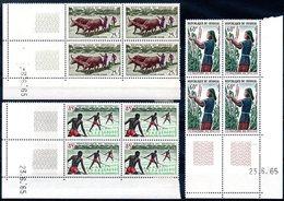 SENEGAL - YT N° 255 à 257 Blocs De 4 Coin Daté - Neufs ** - MNH - Cote: 22,50 € - Senegal (1960-...)