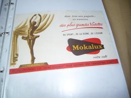 BUVARD Publicitaire   Café Mokalux    Yvette Chauvire - Coffee & Tea