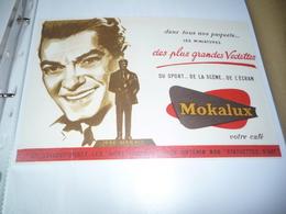 BUVARD Publicitaire   Café Mokalux    Jean Marais - Café & Thé