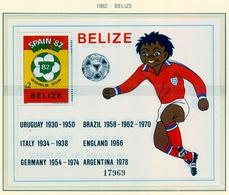 CAMPEONATO DEL MUNDO DE FÚTBOL , ESPAÑA 82 , HOJA BLOQUE ** , EXCELENTE CALIDAD , BELIZE - Fußball-Weltmeisterschaft