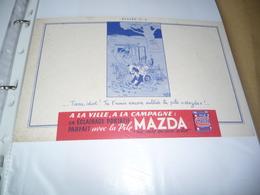 BUVARD Publicitaire  Lampe MAZDA  8 - Electricity & Gas