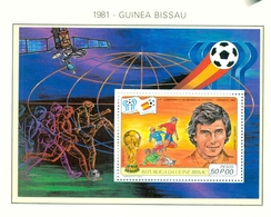 CAMPEONATO DEL MUNDO DE FÚTBOL , ESPAÑA 82 , HOJA BLOQUE ** , EXCELENTE CALIDAD , GUINEA BISSAU - Fußball-Weltmeisterschaft