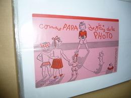 BUVARD Blotting Paper : Comme Papa Je Fais De La Photo - P