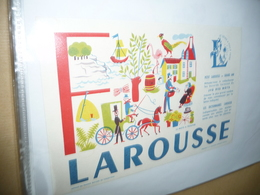 BUVARD-LAROUSSE- MOTS A TROUVER - F - Stationeries (flat Articles)