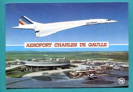 Concorde  Aéroport Charles De Gaulle AIR FRANCE - CPM - 2 Scans - 1946-....: Ere Moderne