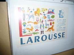 BUVARD  Blotting Paper  LAROUSSE  Lettre L - Stationeries (flat Articles)