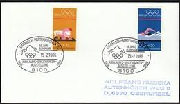 Germany Garmisch-Partenkirchen 1986 / Olympic Games / 50 Jahre Olympiaort Briefmarkenausstellung - Winter 1936: Garmisch-Partenkirchen
